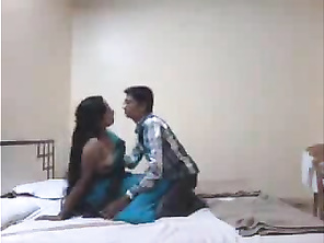 Chubby Indian babe with shaved pussy fucked in motel room.