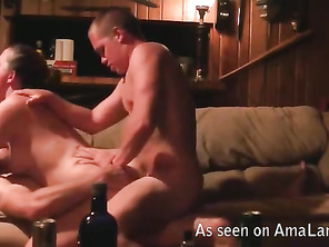 Chubby slut in hardcore double penetration action.