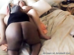Homemade interracial with my BBW girl.