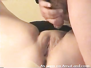 Plump wife gets fucked and jizzed on real quick.