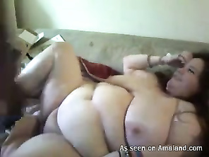 that guy's dick's too small, a big cow like her needs a big fuckin cock to fill her up