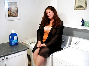 Jennifer Van Beaver is a sexy and very horny BBW redhead, who will be giving her sex machine a handjob, before giving you an upskirt, while on her back taking the dildo into her shaved crack, as you go wild watching her massive, all natural knockers bounc