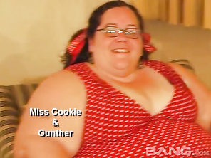 Miss Cookie is a BBW, who'll be taking off her sundress and panties, before giving her boyfriend a POV filmed blowjob, until he wants her to lay on her back and hold her feet up over her head, so he can bury his face in her crotch, licking her sweaty box