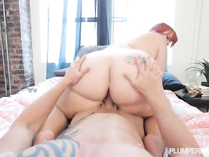 He drains his balls dry all over her hot sexy mouth