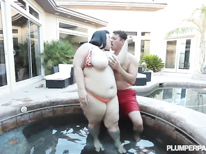 Hot Tub Plumper Action.