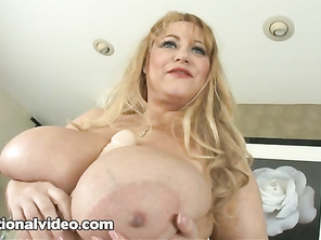 dark areola and her nicely trimmed pussy is a real bonus