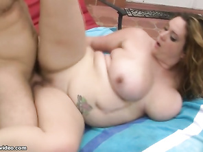 Nice cock and balls and he knows big women are the best