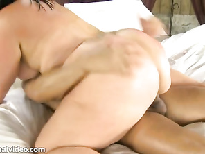 finishes the guy and takes his cum in her mouth in both
