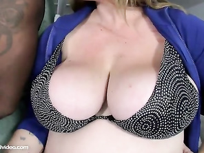 She's a big lass those tits are superb but she needed a lot more