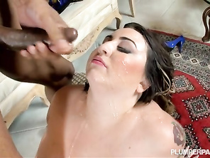 I loved her spreading her pussy wide when he fucked her mouth