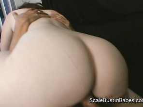 She fondles her big boobs and plunges her fingers deep into her pink chubby pussy.