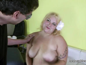 He convinces her that if he can just relieve himself, it will go soft and she won't feel it on his head.