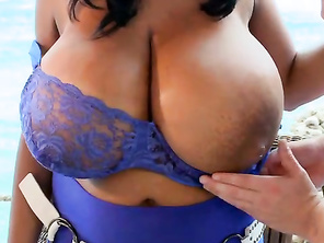 In addition to her enormous tits, Kristina is hugely popular for her lactating powers.