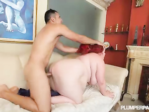 Busty Redhead BBW Babe Eliza Allure loves to Fuck Big Cocks 2_bbw_2_video_2