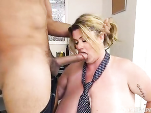 Hot FATTY Buxomy Boss Kimmie Kaboom Fucks Her Stud Employee