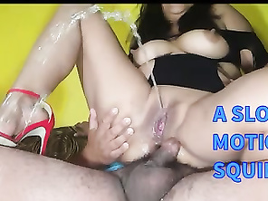 Shooting elegantly, a slow motion squirting and creampie