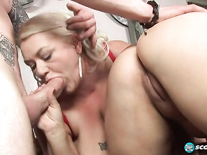 Miss Shugar suggests that Ivy try her mouth and pussy on JT, another of her school studs.