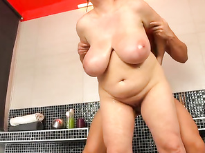 Patricia's tits are massive with equally massive areolae.