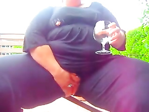 CHUBBY Drinks Champagne on the Deck