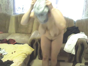 beautiful milf with saggy tits sucks vibrator and dances