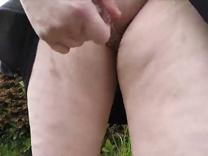 PLUMP Housewife Flashing in the Forest and Public Nudity Squirt