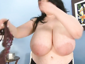 Carlos fingerbangs Jasmine to wet her pussy even more.