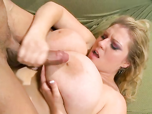 Tony coats her perfect mams with a hot layer of jizz.