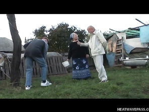 This filthy white trash granny will do anything to get off.