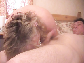 This horny granny is certainly massive, and she's got huge tits to go along with it.