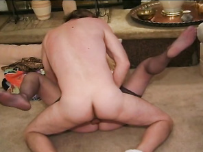 In the next section, a mature BBW with a fucking huge pair of tits gets double teamed by a pair of younger studs.