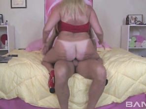 Kayla Kleevage has massive tits that enter a room before she does.