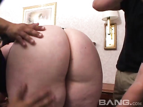 4Glory Foxxx drops her lacy black slip and gets to work on a trio of black and Latin cocks.