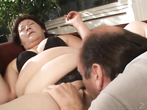 An obese BBW gets down for some erotic play, her man parting her folds and going down on her pussy, before she gives him a blowjob and some titty fucking in this sex scene from Legend Pictures' Mature Kink 16, soon moving on to some fucking and a facial c