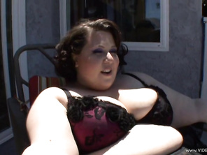 Jellie Bean is a fat BBW chick who never feels as alive as she does when she's taking a pounding by three black dicks at once.