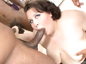 She goes around in a circle, happy as can be, until she takes a facial cumshot on her fat face and just goes completely and utterly wild.