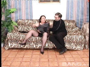 Having hardcore sex with BBW Carmen Busi is almost like having a FFM threesome but, there's only three holes to fuck.