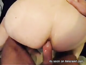 BBW takes it deep in the ass.