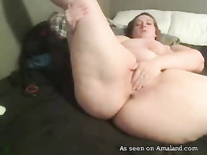 BBW amateur solo with a vibe.