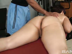 Soon, she's giving him a blowjob and letting him slide his dong into her hot pussy, where he has her ride on his rod before giving her a facial.