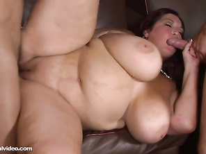 This babe really knows how to suck a cock, and obviously loves cum