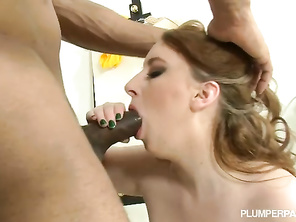 super fucking hot love the way she cleans his cock after he cums