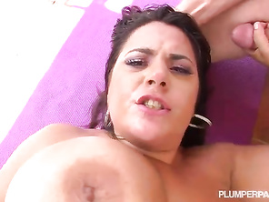 I wish you could see her pretty face as she got filled with cum