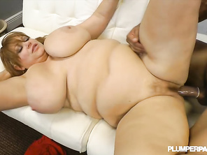 large Man's Heaven small bed and two big titted White women