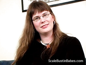 BBW Lana is very horny and comes to Rodney to make her first public video.