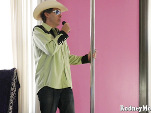 Becki Butterfly surprises her stepdad Rodney by showing up at his strip club for BBW Amateur Strip Night.