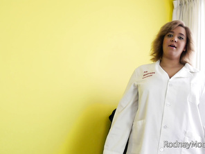 Rodney's at the sperm bank ready to donate but the skinny girl porn that he's watching just isn't doing it for him.