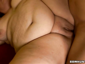 The guy began teasing her and by grabbing her massive butt and fat tits.