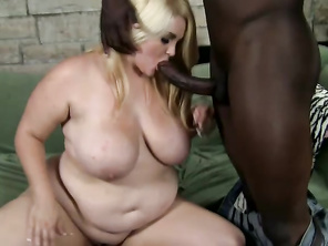 Nothing gets me more than seeing a beautiful blonde BBW take on a big black cock.