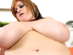 He begins feasting on Patricia's thick nipples and surrounding breast-flesh.