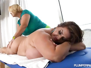 Chesty PLUMP Pornstars Samantha 38G and Maria Moore in beautiful Lesbian Sex